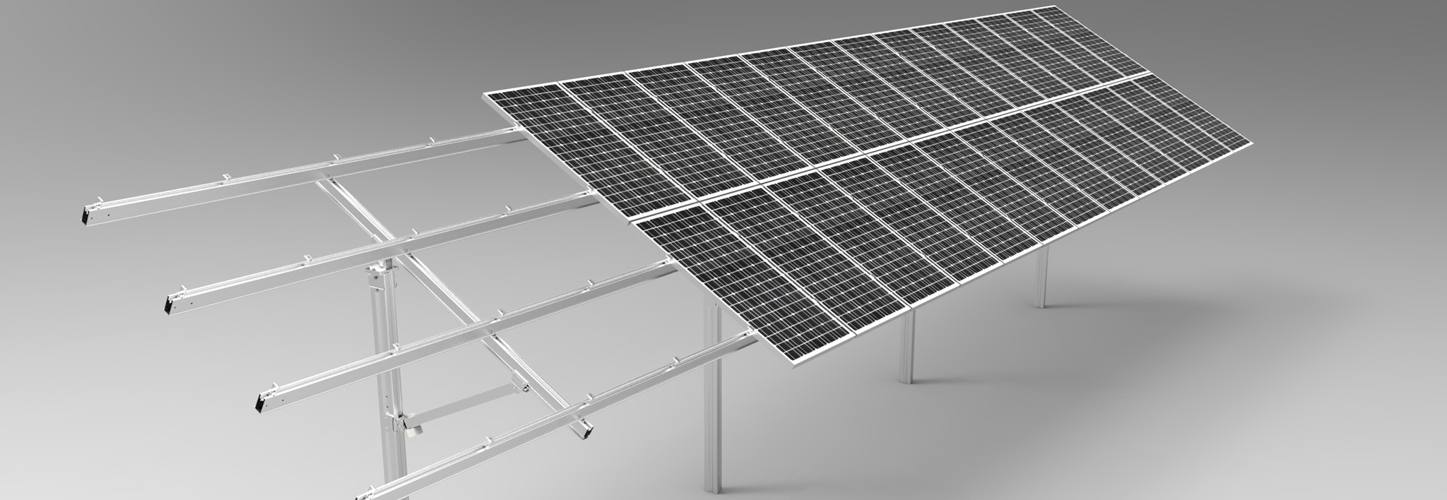 PV-ezRack SolarTerrace II-A with Panels 01