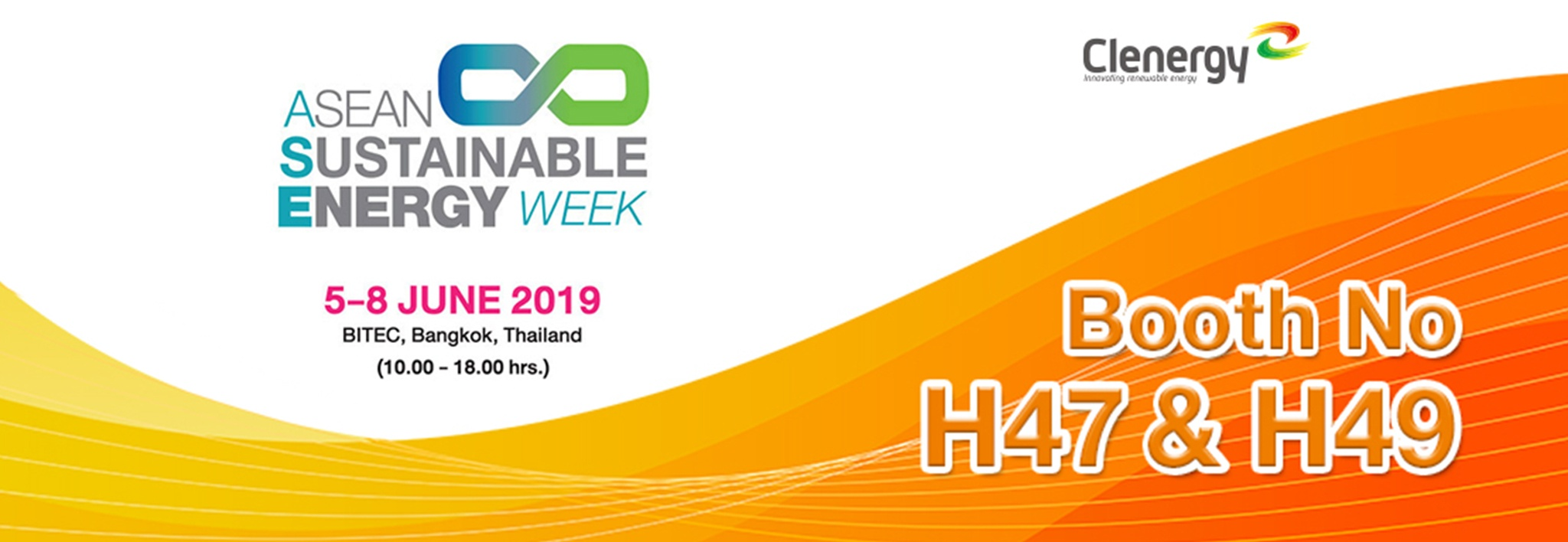 Clenergy at ASEAN Sustainable Energy Week 2019 Invitation Letter