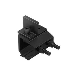 Universal Klip-lok Interface pre-assembly with Cross Connector Clamp, Black Anodized ER-I-34 CRC BA