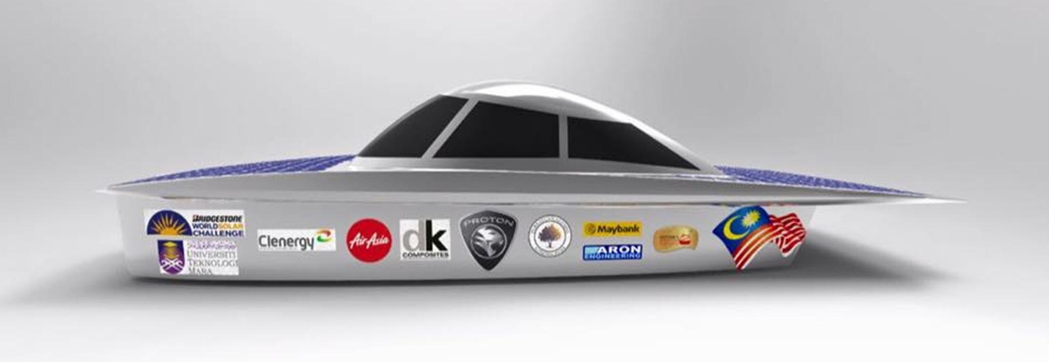 Malaysian Eco Photon UiTM Solar Car for the 2015 World Solar Challenge