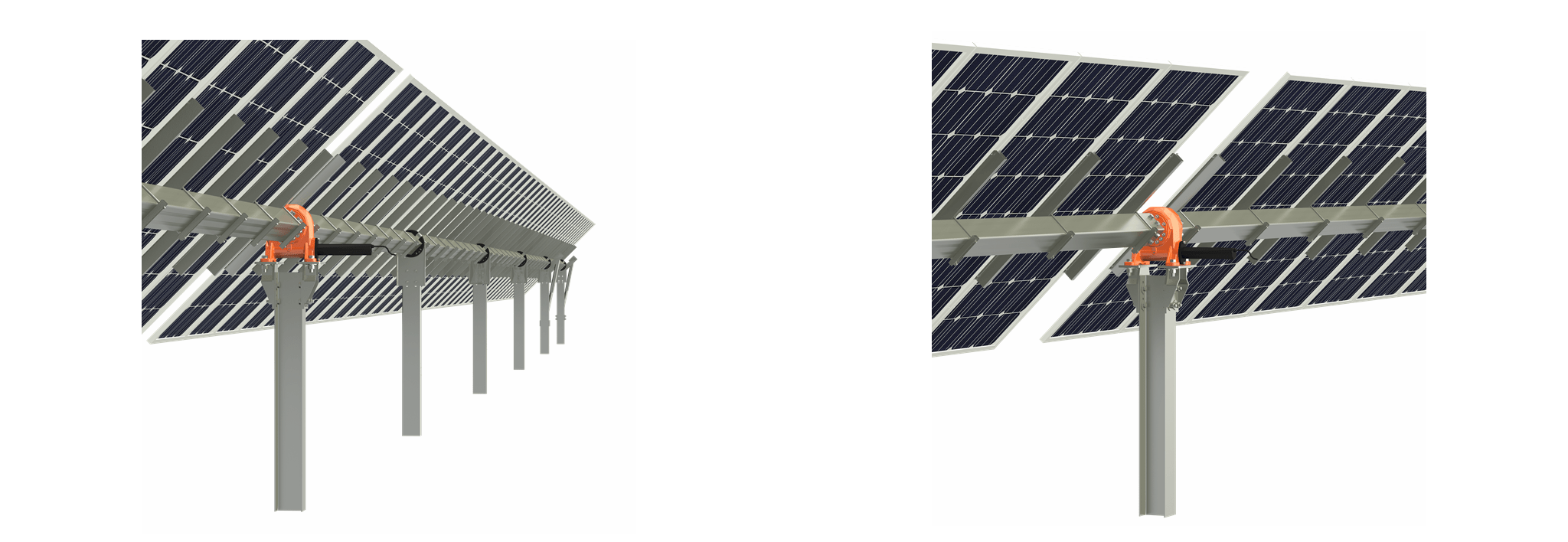Clenergy PV-ezRack EzTracker D1P One Portrait Horizontal Single-axis Solar Tracker