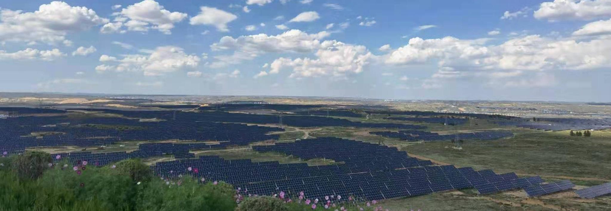 Clenergy Ground-mount PV-ezRack SolarTerrace I 25MW Solar Project Ordos Inner Mongolia China 01