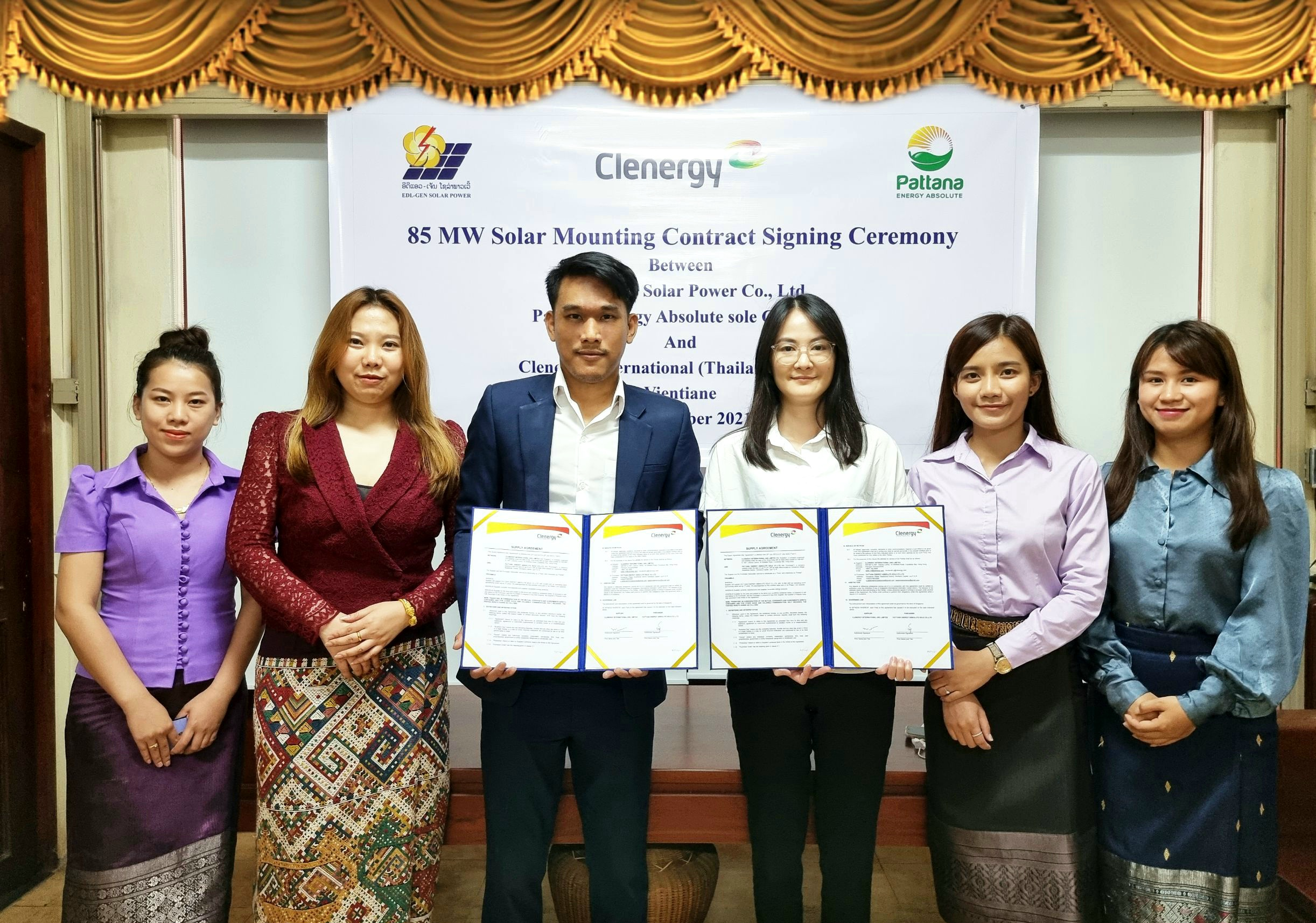 Clenergy Thailand signs an agreement with EDL-GEN Solar Power